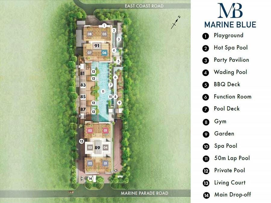 Marine Blue Site Plan
