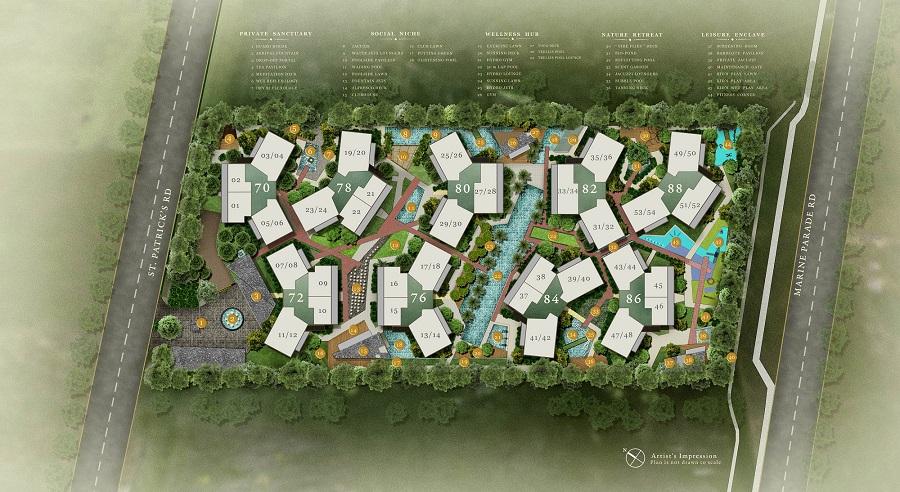 Seventy St Patrick's Site Plan