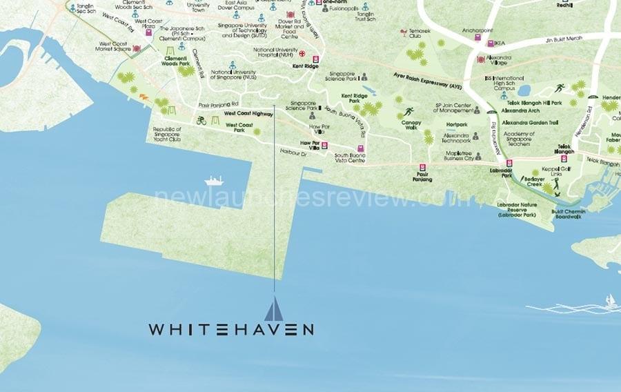 Whitehaven Location Map