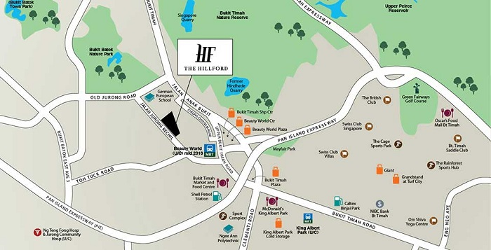 the hillford map