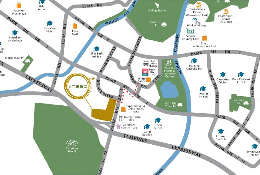 DNest location map
