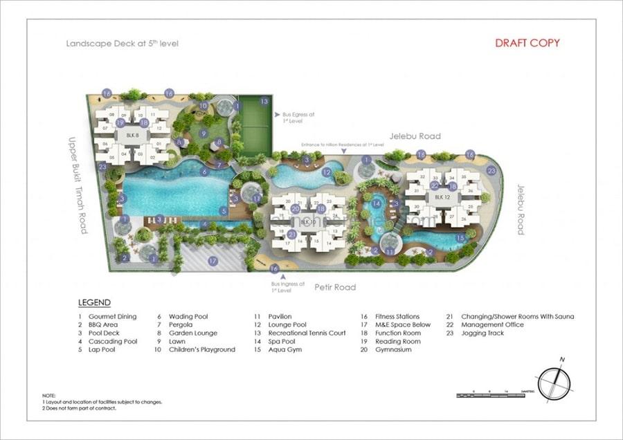 Hillion Residences Site Plan