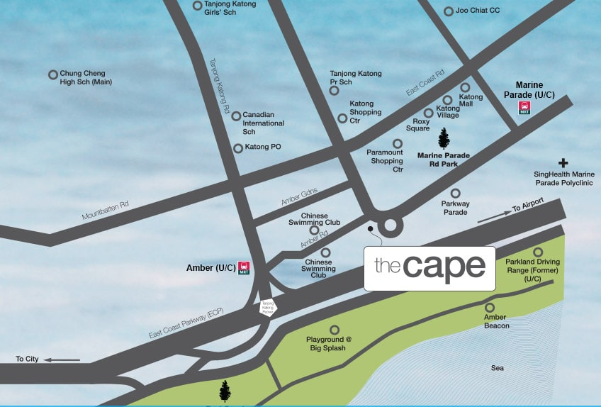 The Cape Condo Location