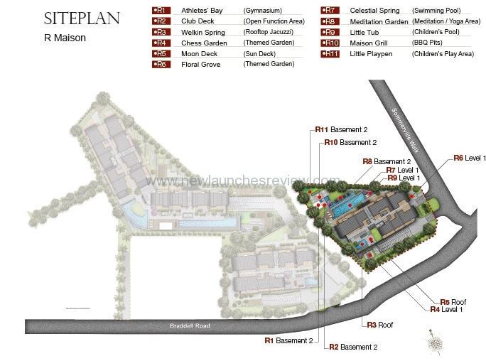 The Maisons Site Plan 2