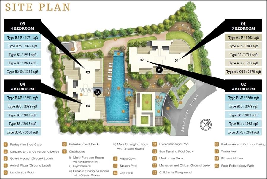 Treasure on Balmoral Site Plan