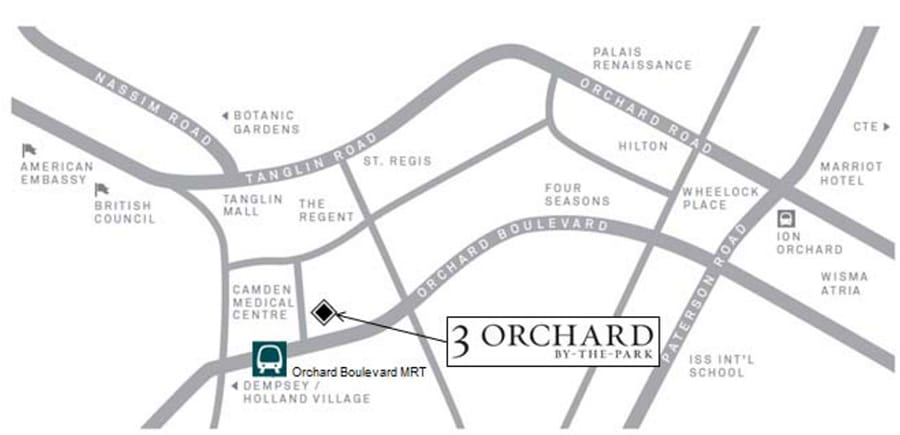 3 Orchard By-The-Park Location