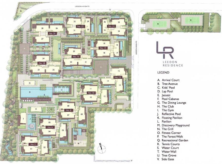 Leedon Residence Site Plan