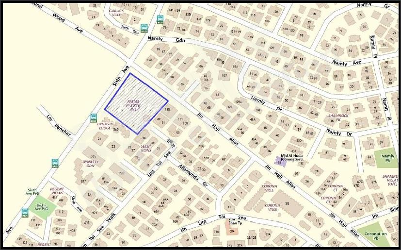 Palms @ Sixth Avenue Map