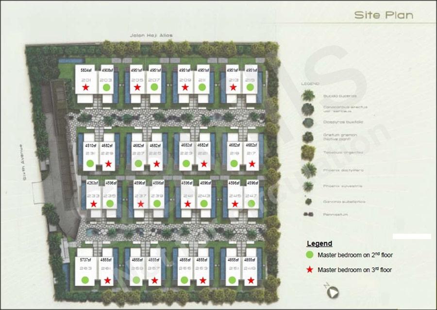 Palms @ Sixth Avenue Site Plan