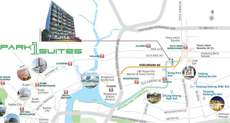 Park 1 Suites Location