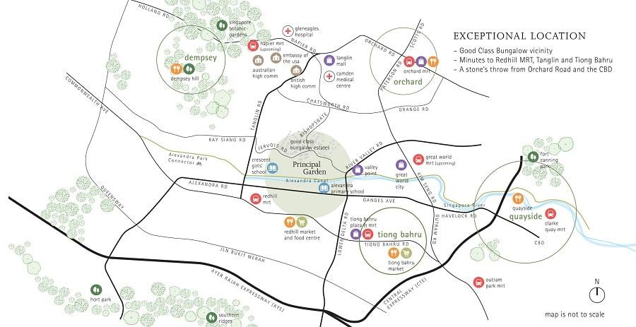 Principal Garden Location Map