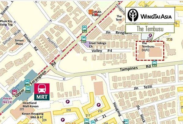 Tembusu Location Map