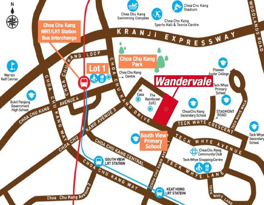 Wandervale EC Location Map