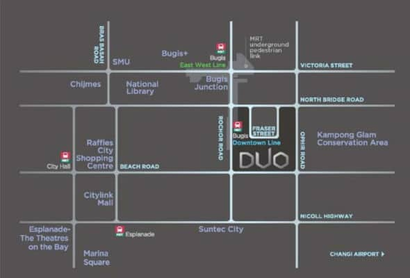 duo residences location map