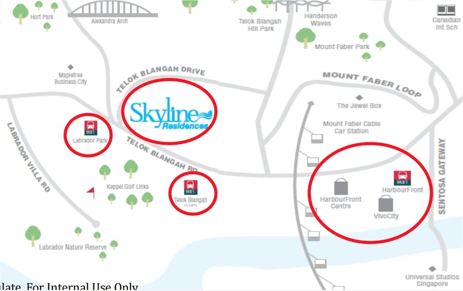 skyline residences map