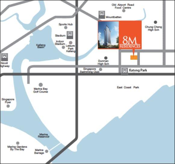 8M Residences Map