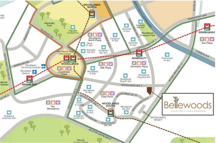 Bellewoods EC Map
