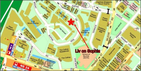 Liv on Sophia Location Map