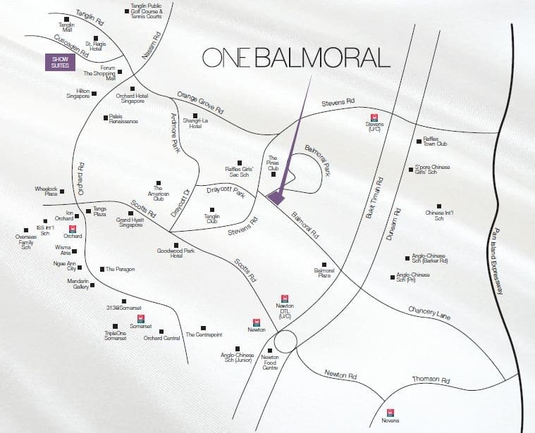 One Balmoral Location