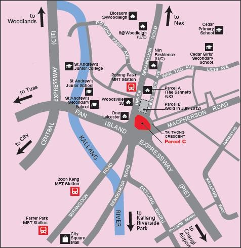 The Venue location map