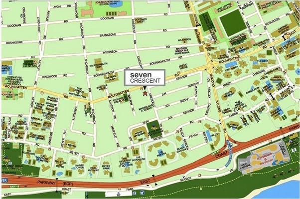 Seven Crescent Location