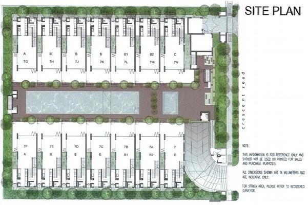 Seven Crescent Site Plan
