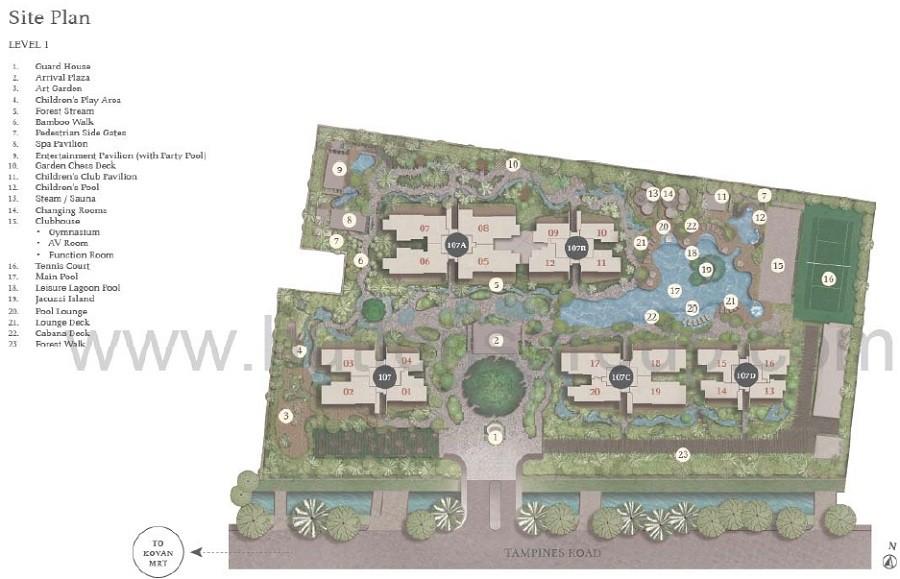 Tembusu Site Plan