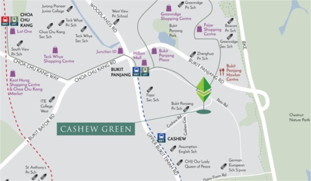 Cashew Green Location Map 1