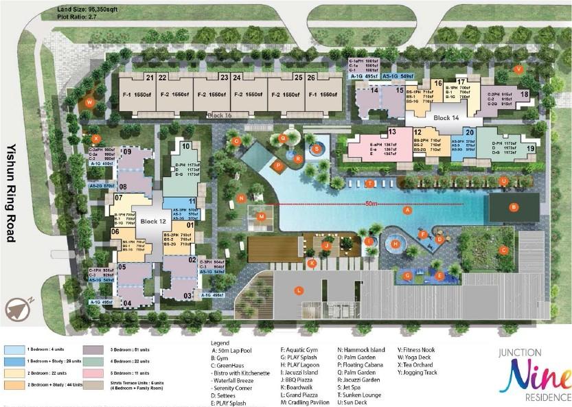 Nine Residences Site Plan