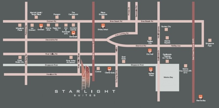 Starlight Suites Map