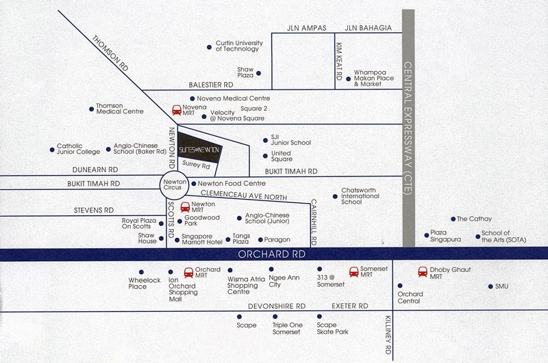 Suites @ Newton Map