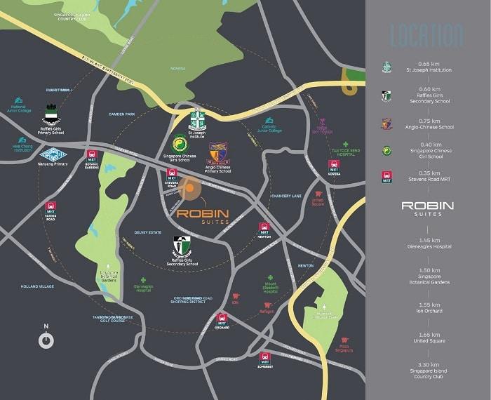 robin suites map