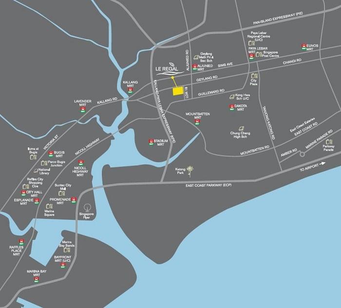 Le Regal Map