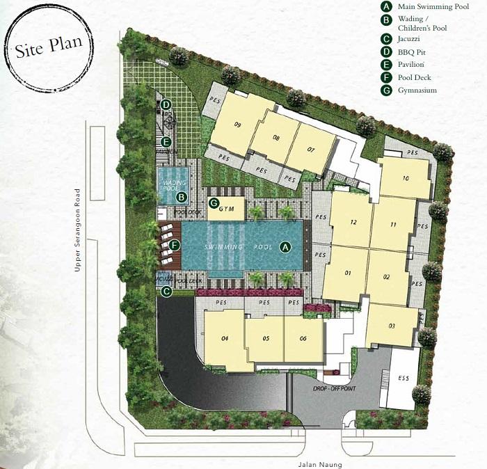 Naung Residence Siteplan