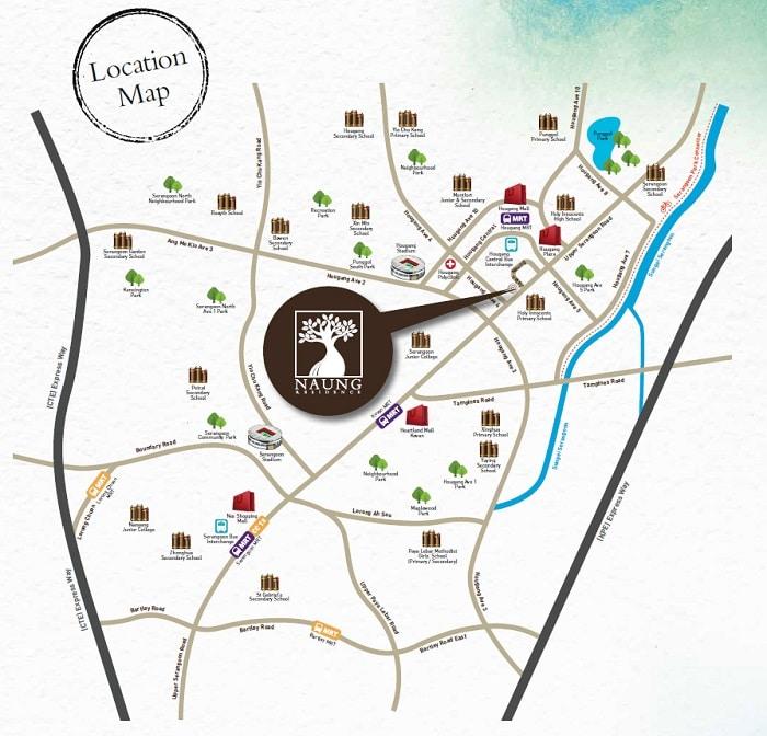 Naung Residence map