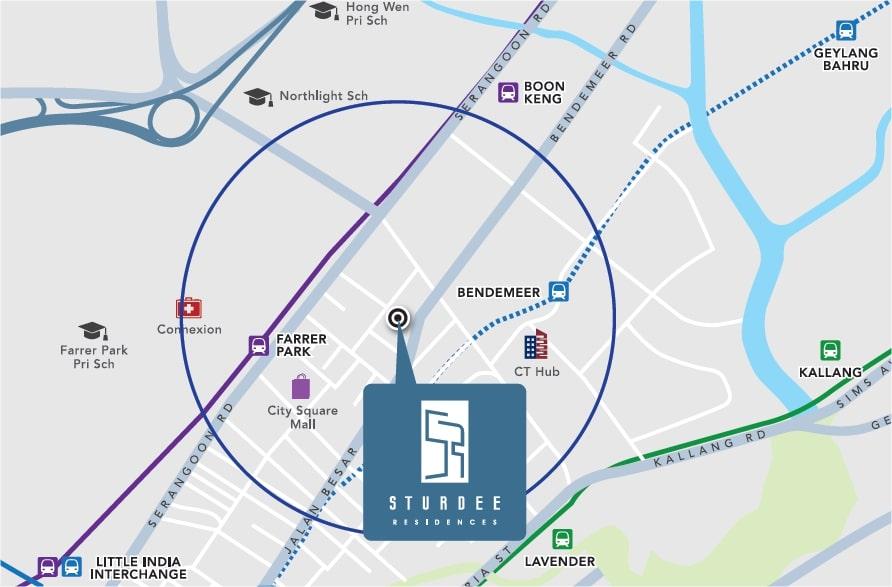 Sturdee Residences Map