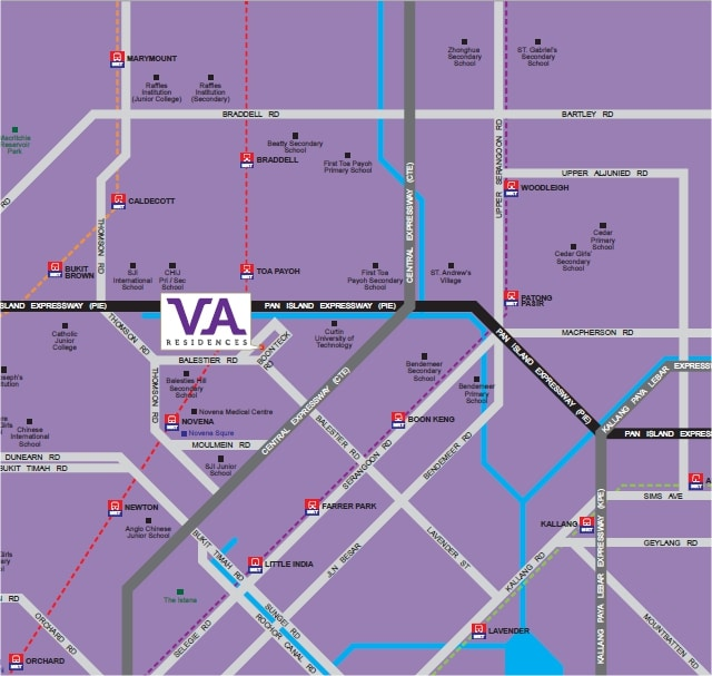VA Residences Map