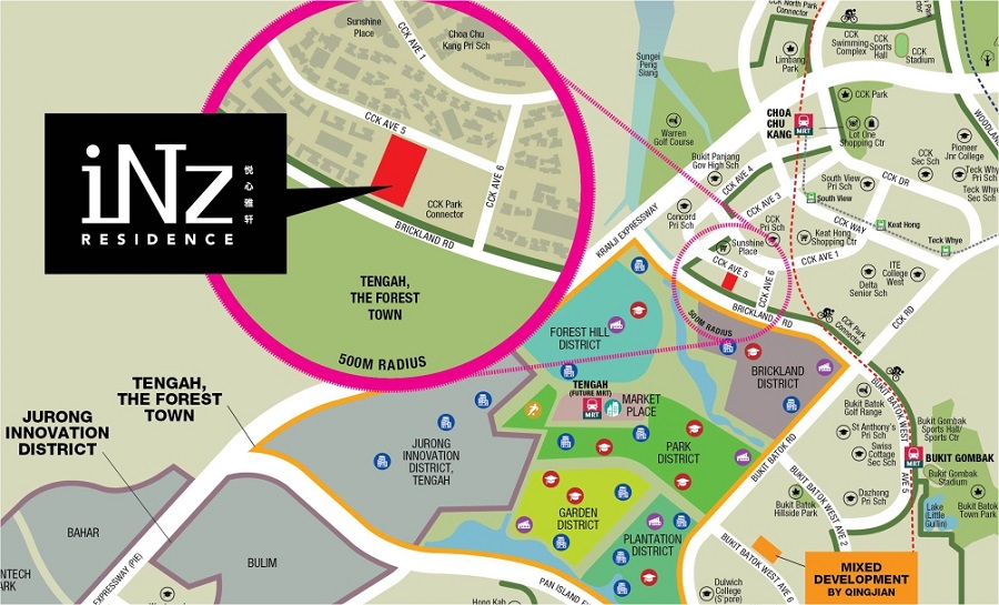 iNz Residence EC Location Map