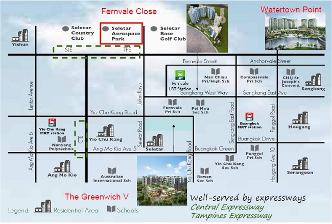 Rivertrees Residences location