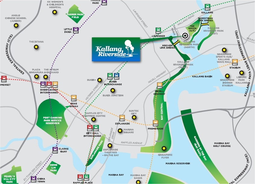 Kallang Riverside Location Map
