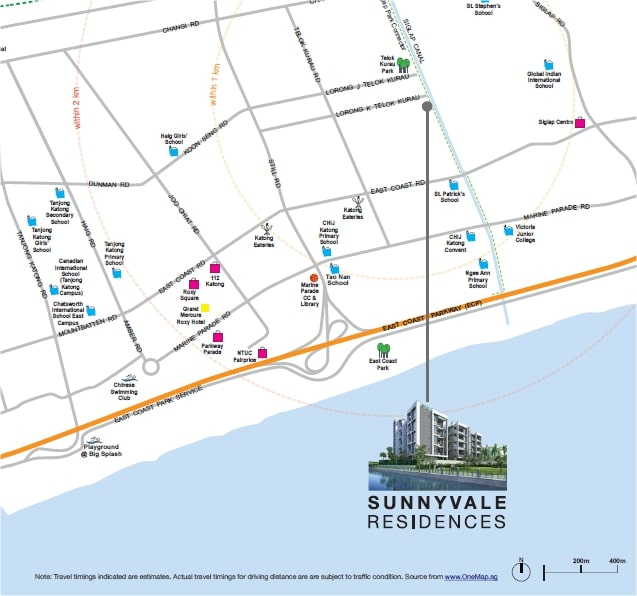Sunnyvale Residences Map