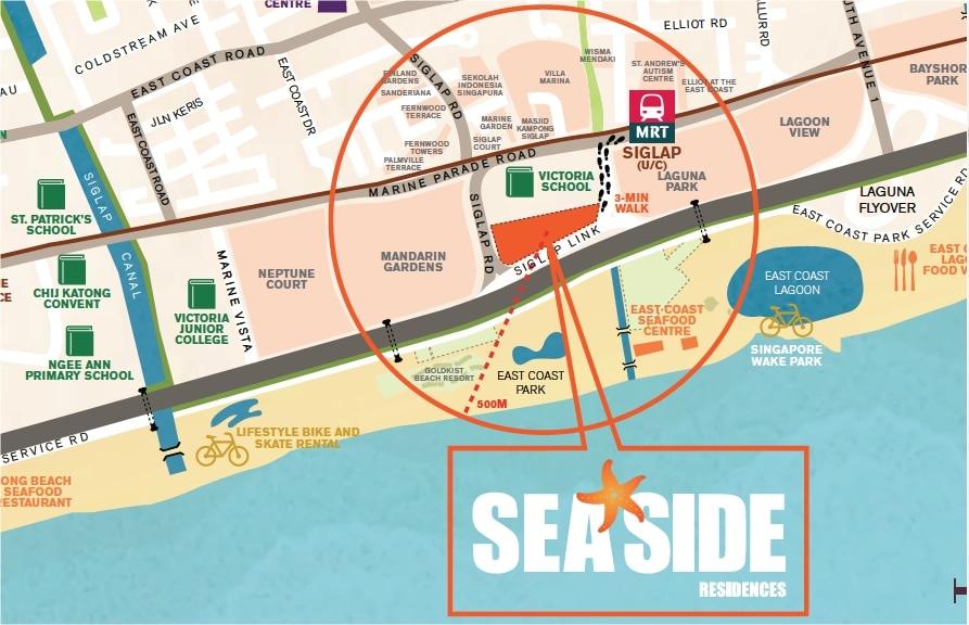 Seaside Residences Map