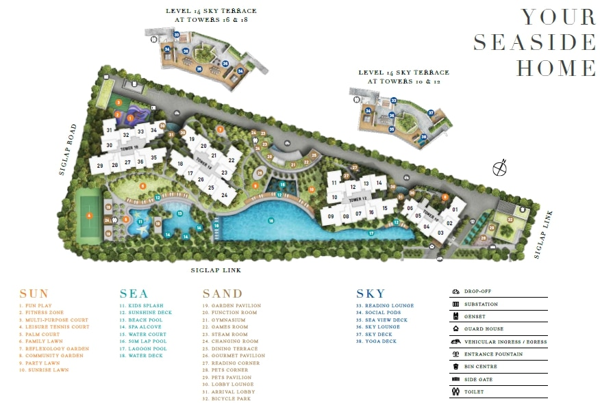 Seaside Residences SitePlan