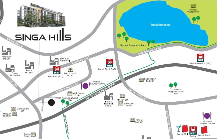 Singa Hills Location Map