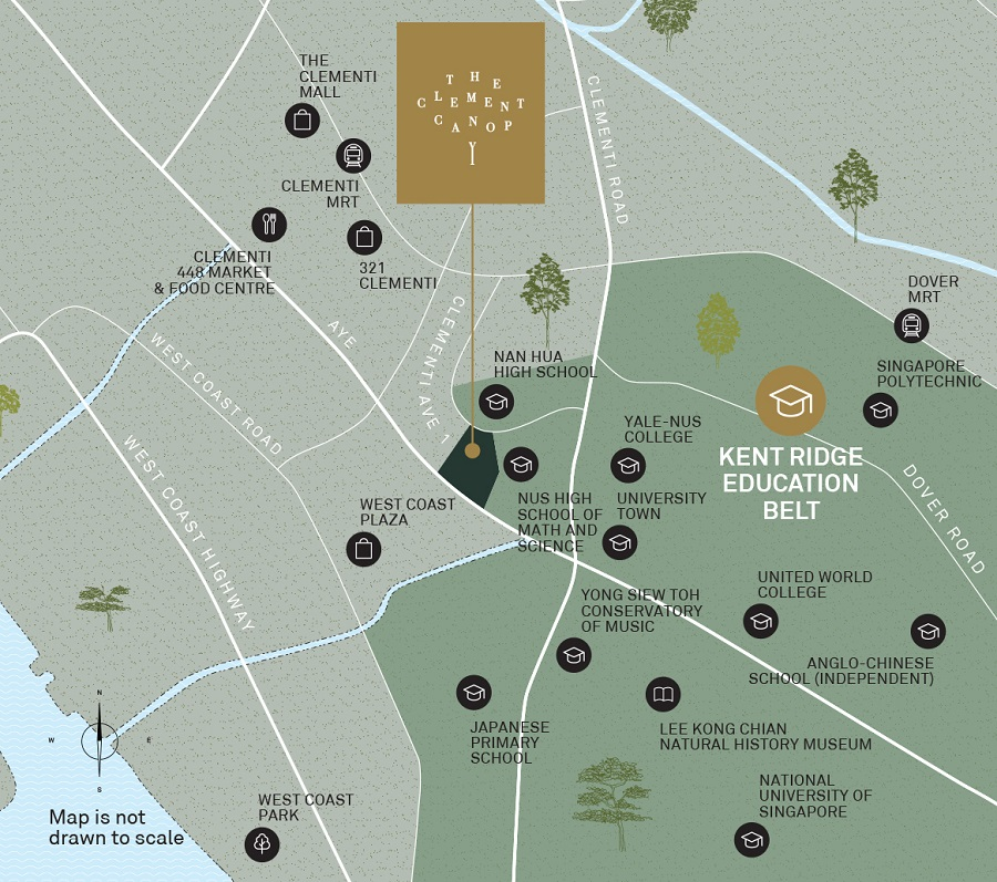 The Clement Canopy Location Map
