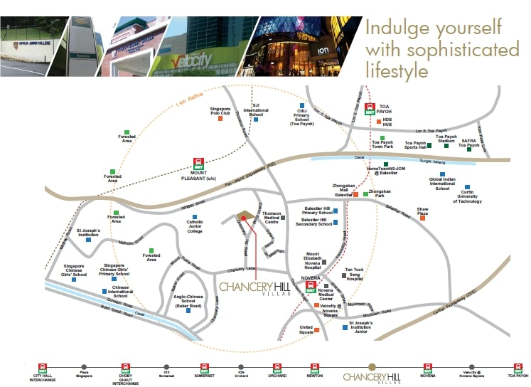 Chancery Hill Villas Map