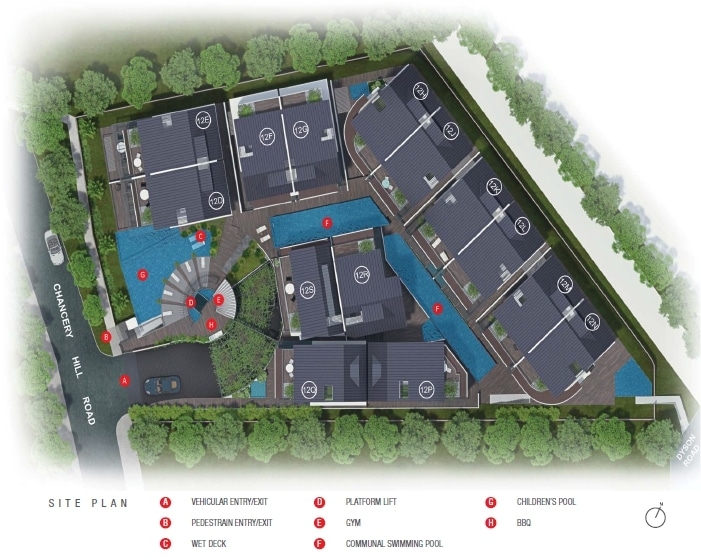 Chancery Hill Villas Siteplan