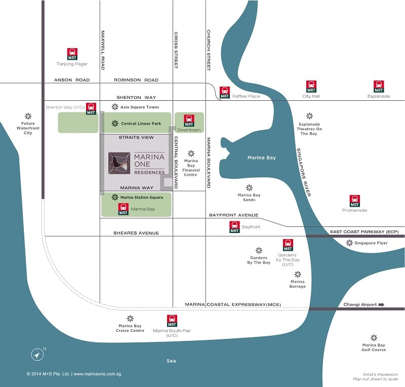Marina One Residences Map