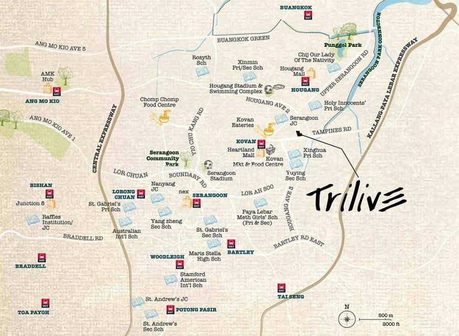 Trilive Location Map
