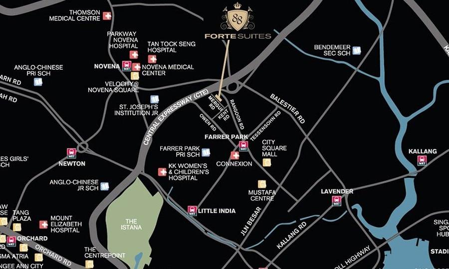 Forte-Suites-Location-Map